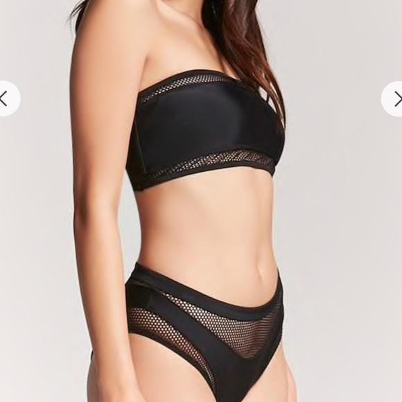795a40f168 Brand new black mesh forever 21 bikini 🐾